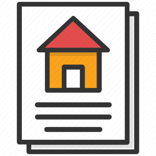 estate contract, home loan application, mortgage papers, property agreement, property papers icon