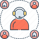 callcenter, customer, customer support, helpline, property, real estate, support icon