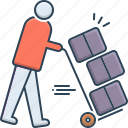 coworker, moving, moving services, services, transport icon