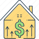 accumulation, mortgage price, price, property, property price