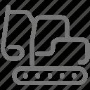 construction, equipment, excavator, transport icon