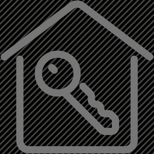 home, house, key, open icon