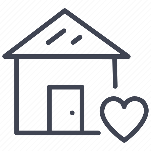 Favourite, estate, heart, home, property, real icon - Download on Iconfinder