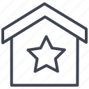 bookmark, estate, house, real, star, starred icon