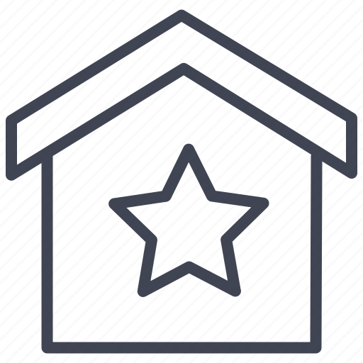 House, starred, bookmark, estate, real, star icon - Download on Iconfinder