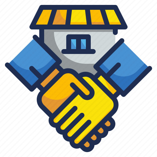 deal, handshake, house, property icon