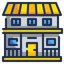 buildings, estate, house, real, real estate icon