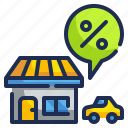discount, house, percentage, property, sale icon
