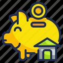 piggy, funds, save, house, money