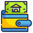 finance, house, money, pay, wallet icon