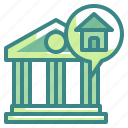 bank, buildings, business, finance, money icon