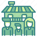 architecture, family, home, house, persons icon