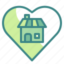 heart, home, house, love, romantic icon