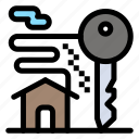 estate, home, key, real, room icon