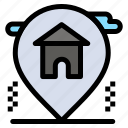 estate, home, house, location, real icon
