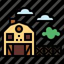 barn, farm, industry, nature icon