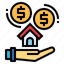 estate, finance, house, mortgage, real icon