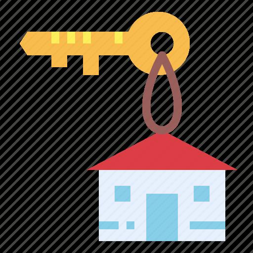 access, house, key, pass icon