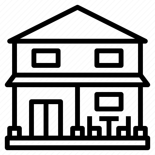 2storey, building, estate, house, living, property, sale icon