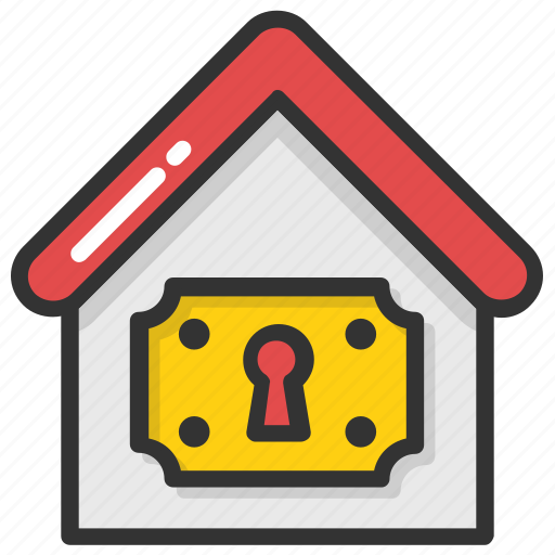 House insurance, house security, keyhole, locked house, real estate icon - Download on Iconfinder