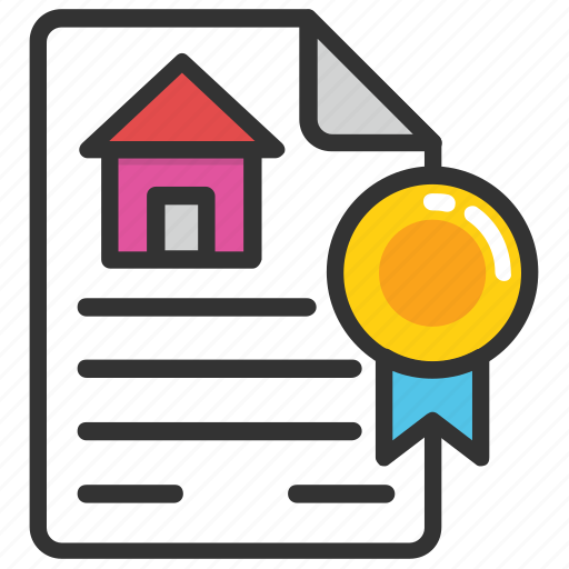 certified building, home certification, house certification service, property authorization, real estate certification form icon