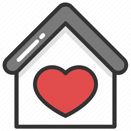 couple house, happy family, home with heart, loving home, sweet home icon