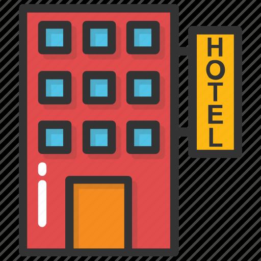 hotel, hotel building, inn, public house, real estate icon
