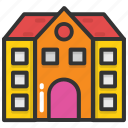 building, institute, real estate, school, university icon