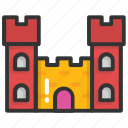building, castle, fortress, historical building, tower icon