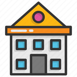 building, high school, institute, real estate, school icon