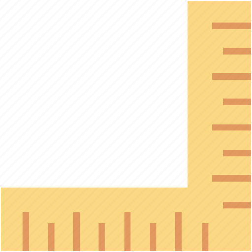 decimal ruler, measure, ruler, scale, try square icon