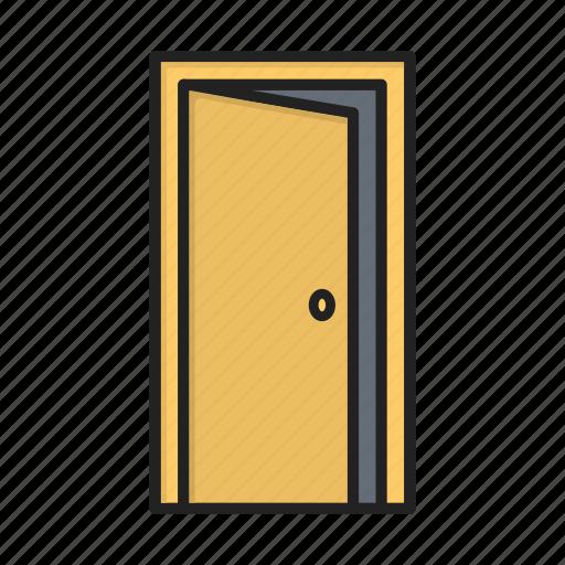 door, enter, home, login, open, shift icon