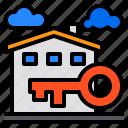 building, house, key