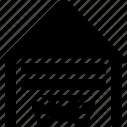 estate, garage, home, house, parking icon