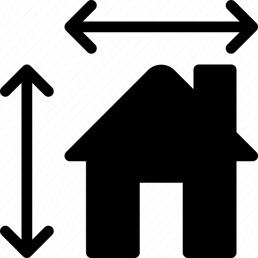 construction, dimensions, estate, home, house icon