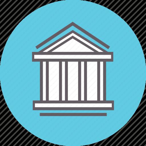bank, building, finance, financial, loan, money icon