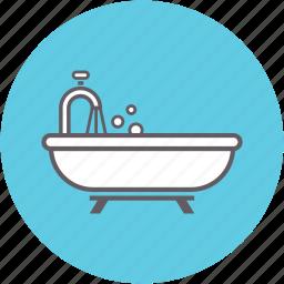 bath, bathroom, bathtub, restroom, shower, tub icon