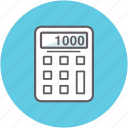 accounting, budget, calculating, calculator, counting icon