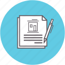agreement, contract, document, lease, mortgage, signing icon