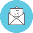 correspondence, envelope, inbox, letter, mail, message icon