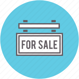for, real estate, sale, selling, sign icon