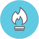 fire, flame, gas, heat icon
