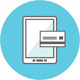 credit card, online, pay, payment, shopping, smartphone icon
