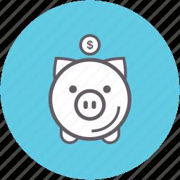 bank, financial, money, piggy, saving icon