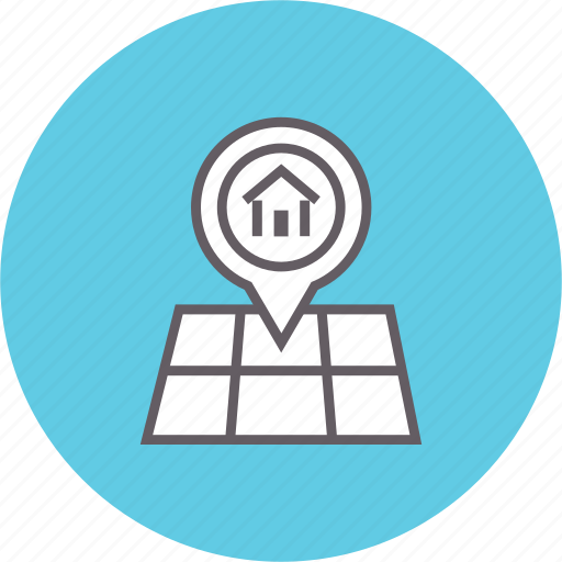 direction, location, map, pin, place, pointer icon