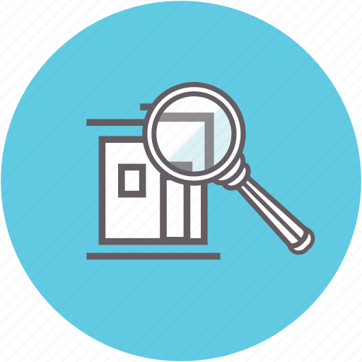 find, house hunting, inspection, magnifying glass, search, view icon