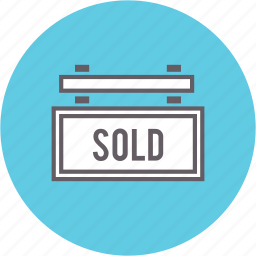 real estate, selling, sign, sold icon