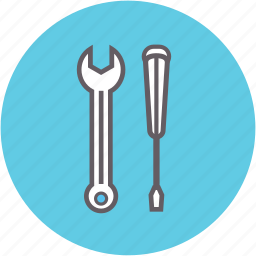 construction, equipment, fixing, repair, screwdriver, tool icon