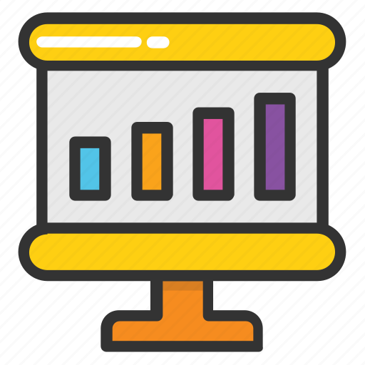 analysis, bar graph, business analytics, graph presentation, graphic presentation icon