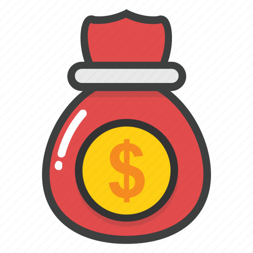 currency sack, dollar sack, investment, money sack, moneybag icon